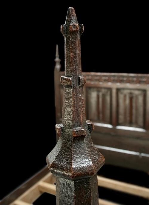 Footpost finial detail for Replica furniture uk