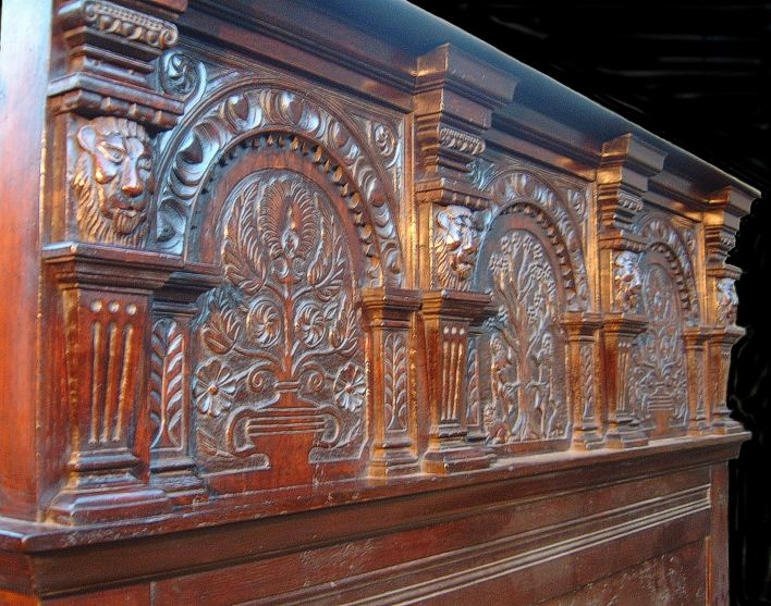 Carved headboard hand carving oak carved for Replica furniture uk