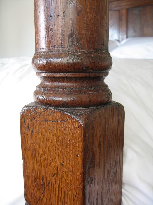 Footpost detail for Replica furniture uk