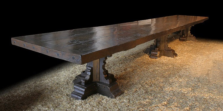 Medieval Style Trestle Table : medievalstyletrestletableaa from www.earlyoakspecialists.co.uk size 750 x 375 jpeg 110kB