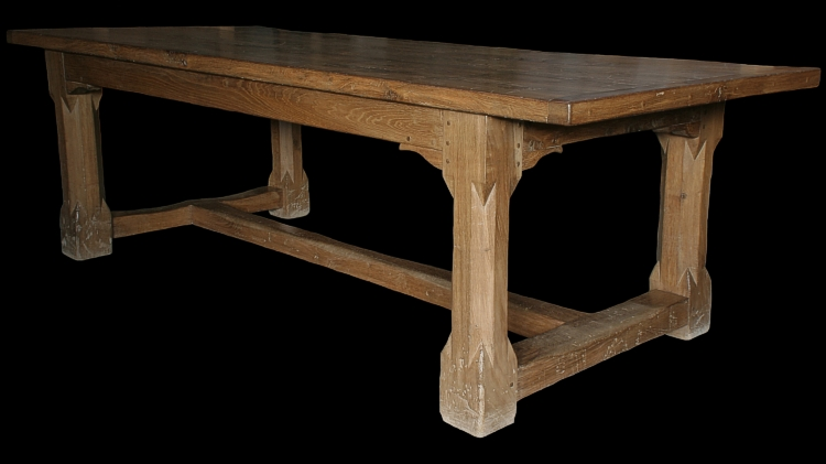 Dart Stop Chamfer Oak Dining Table