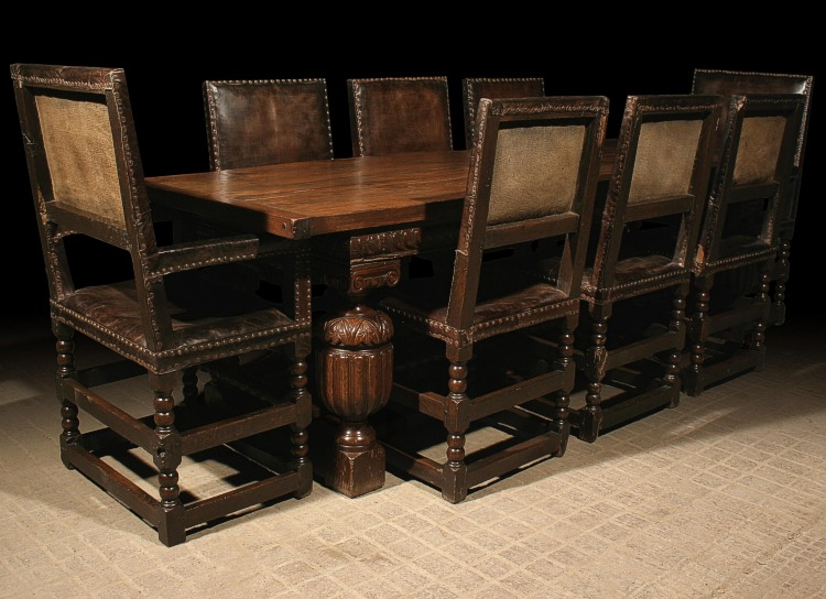 Period style dining table and chairs for Replica furniture uk