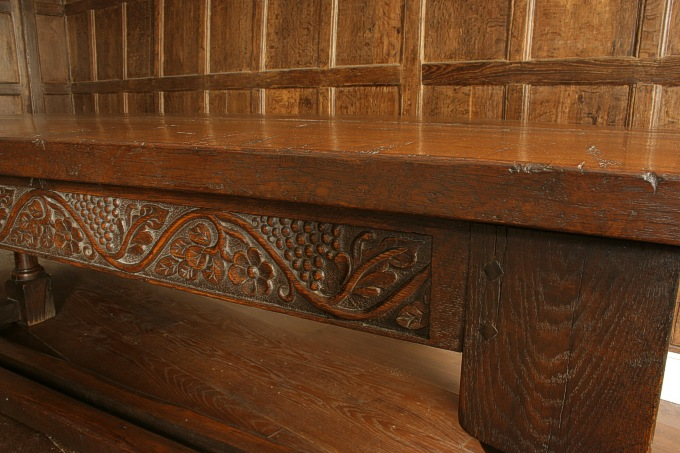 Running leaf and grape carving for Replica furniture uk
