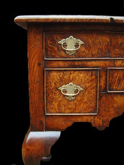 Cock beading burr oak carcase for Replica furniture uk