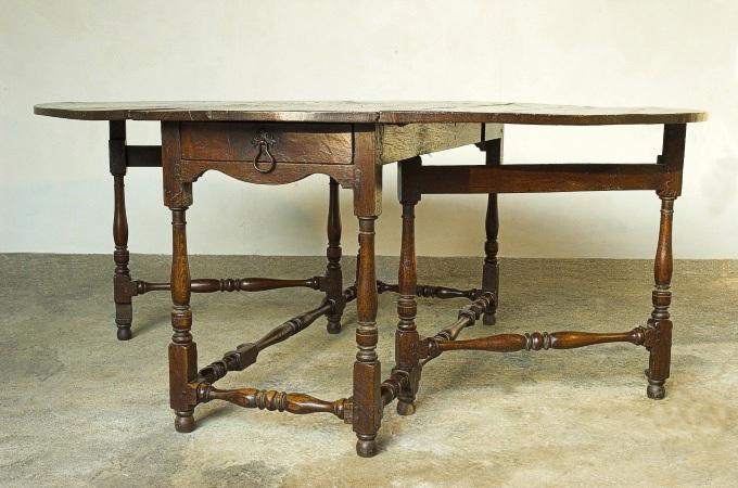 Handmade oak gateleg table period oak traditional oak for Replica furniture uk